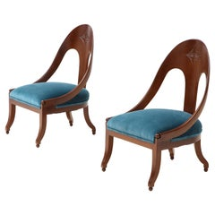 Michael Taylor for Baker Spoon Back Slipper Chairs