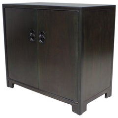 Far East Regency Michael Taylor by Baker Two Door Cabinet Server Dresser Drawers