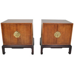 Michael Taylor HENREDON Pan Asian Chinoiserie Nightstands Bedside Cabinets