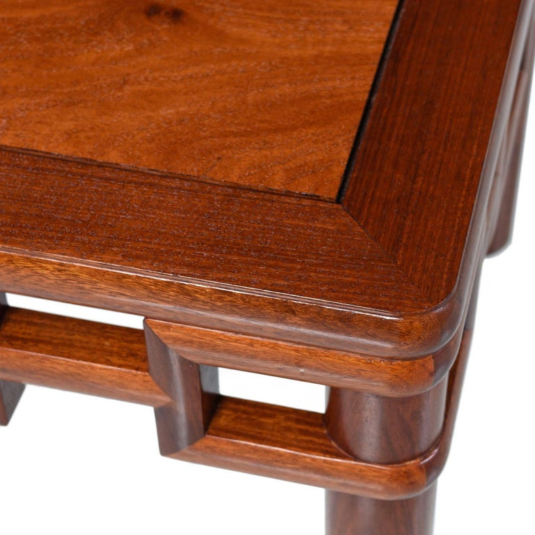 Southeast Asian Michael Taylor Style Solid Red Mahogany Asian Modern Coffee Table
