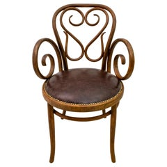 Michael Thonet Art Nouveau Austria Coffee Chair Nr.4 for Thonet, 1890s