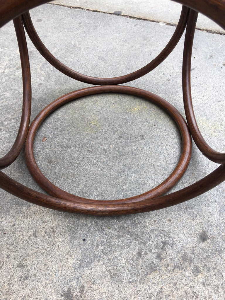 Austrian Michael Thonet Caned Ottoman For Sale