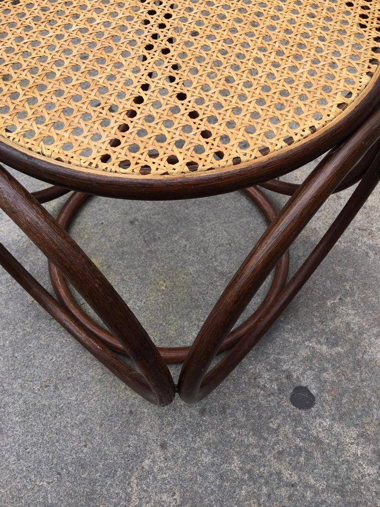 Late 20th Century Michael Thonet Caned Ottoman For Sale