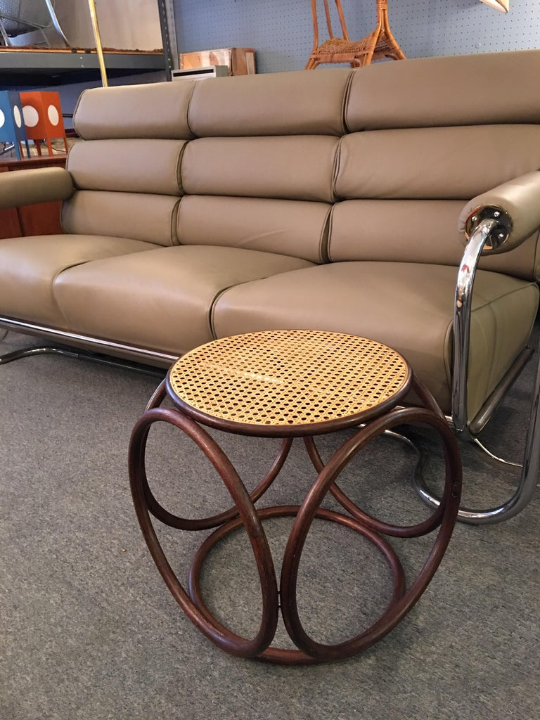 Michael Thonet Caned Ottoman For Sale 1
