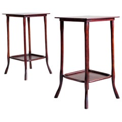 Michael Thonet, Pair of Servant Tables n ° 9136, Wien, 1900