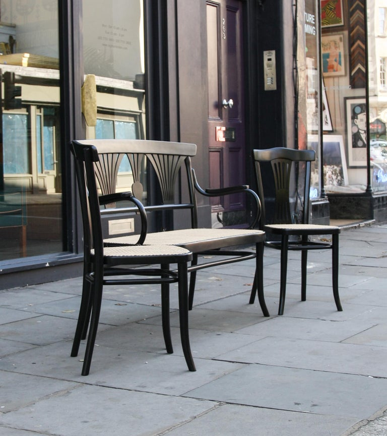 Modern Michael Thonet Suite of a Bench and Two Side Chairs For Sale