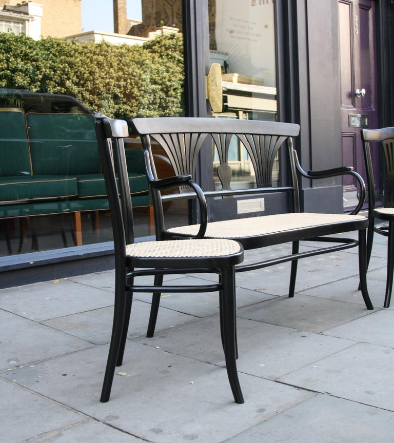 Austrian Michael Thonet Suite of a Bench and Two Side Chairs For Sale