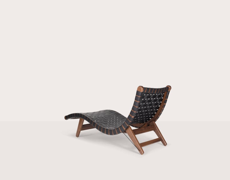Mid-Century Modern Midcentury Mexican 'Alacrán' Chaise by Michael van Beuren from LUTECA  For Sale
