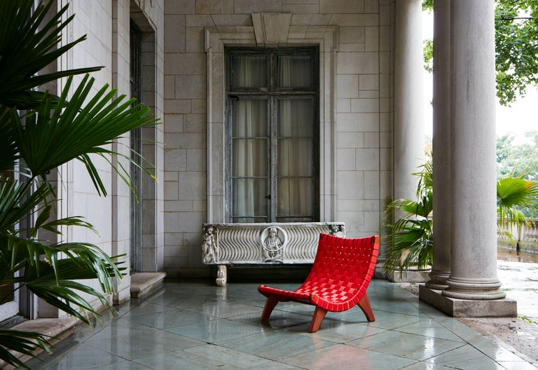 The San Miguel lounge chair is a timeless and iconic mid-century piece inspired by the Classic Latin American Butaque chair design famed by the likes of Luis Barragan and Clara Porset. Designed by Michael van Beuren, the American born Bauhuas