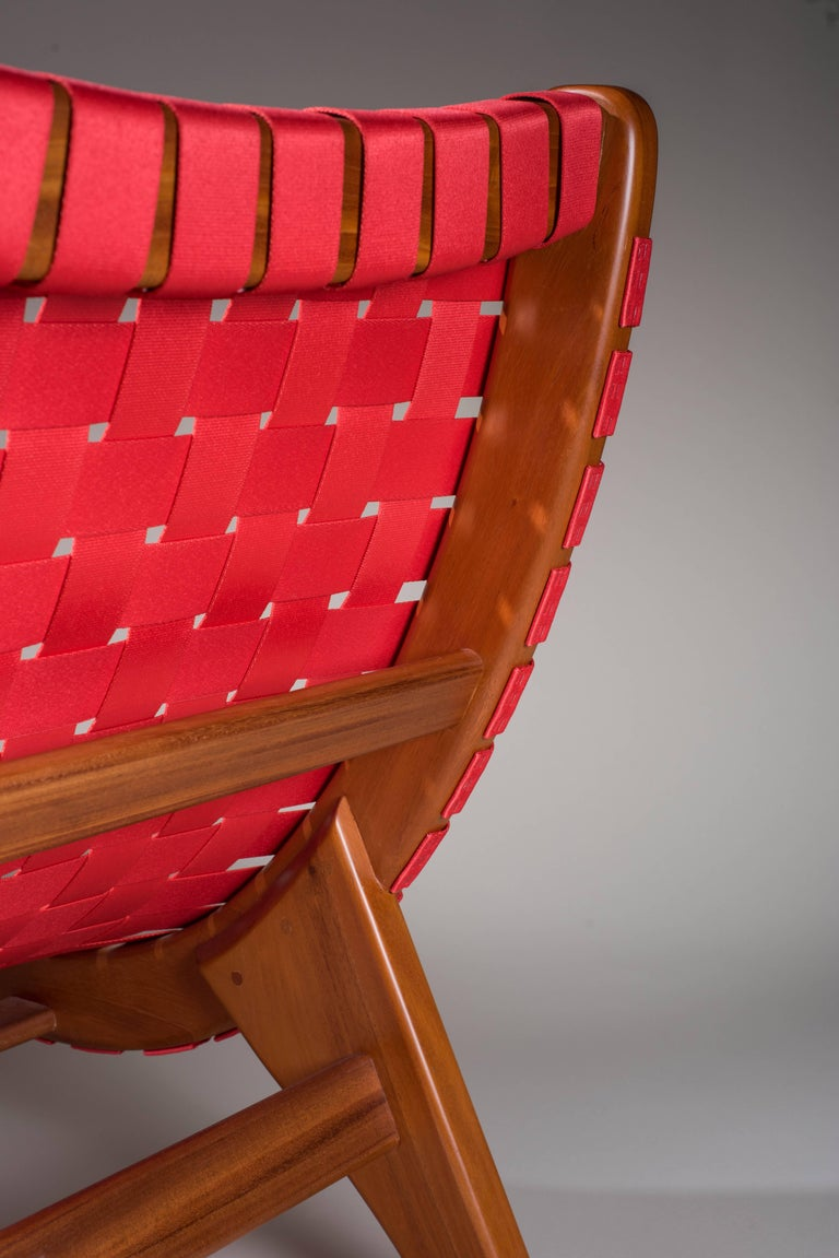 Mid-Century Modern Indoor-Outdoor mid century Mexican Lounge Chair in Teak by LUTECA, In-Stock Now For Sale