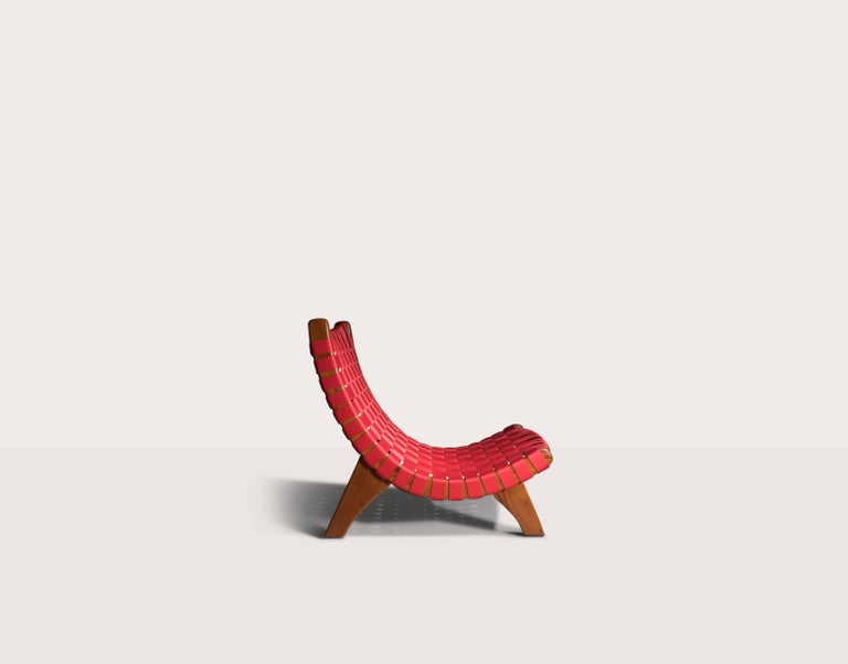 Hand-Crafted Indoor-Outdoor mid century Mexican Lounge Chair in Teak by LUTECA, In-Stock Now For Sale