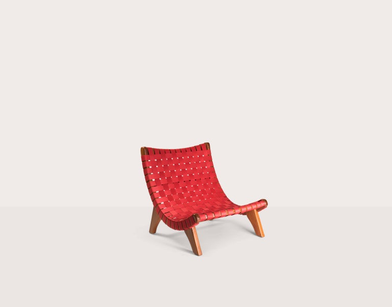 Indoor-Outdoor mid century Mexican Lounge Chair in Teak by LUTECA, In-Stock Now In New Condition For Sale In New York, NY