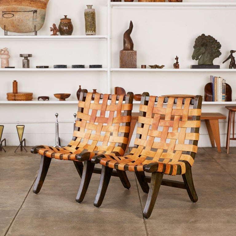 """San Miguelito chair by Michael van Beuren for Domus, circa 1940s. The San Miguelito or Miguel chair was named after van Beuren's Spanish moniker, """"Don Miguel."""" The chair is van Beuren's interpretation of the traditional butaca, or butaque chair,"""