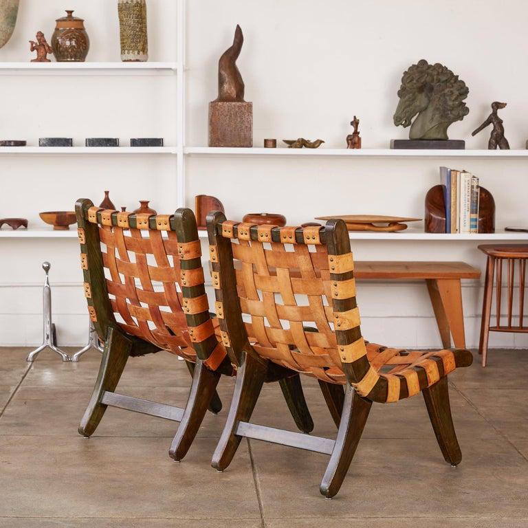 "Leather Michael van Beuren ""San Miguelito"" Chair For Sale"
