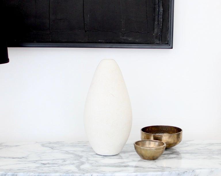 Michael Verheyden Mandorla Solifeur Pietra di Vincenza Marble Vase For Sale 3