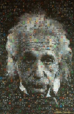 Albert Einstein Mosaic Photo Collage on Canvas, Photograph, Canvas (stretched)