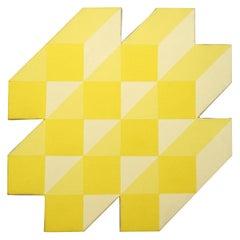 Michael Vinson Clark Yellow Abstract Modern Washington Color School Painting