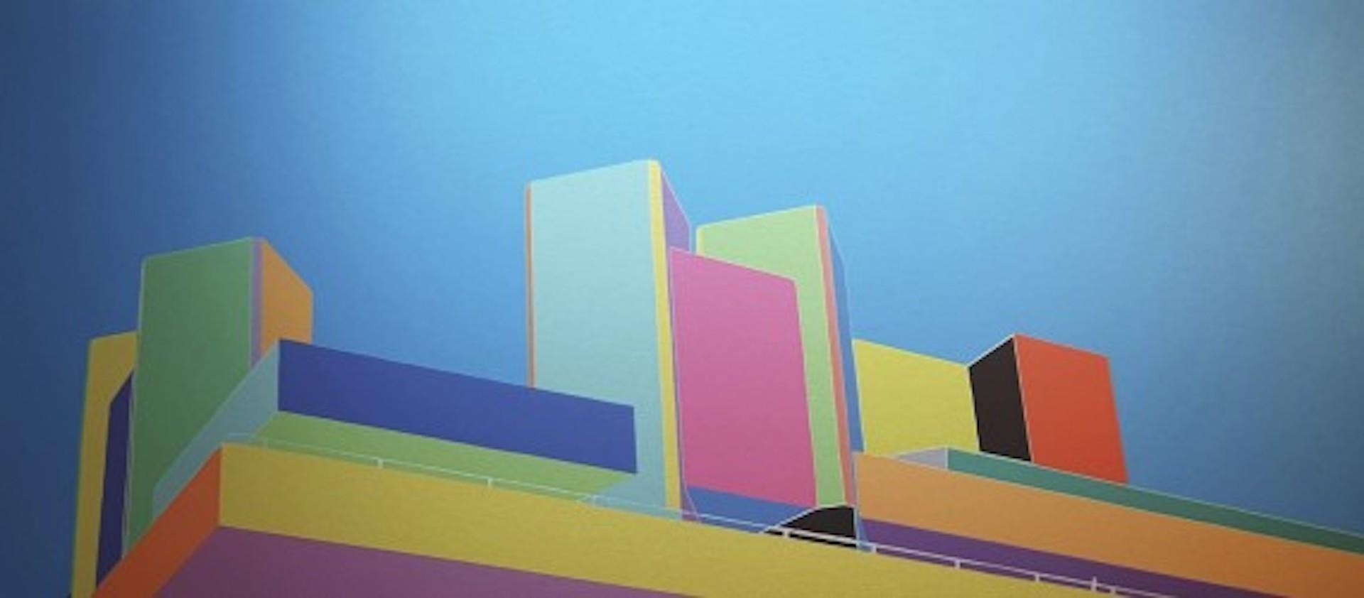 Michael Wallner, National Theatre (bright colours), Architectural Art
