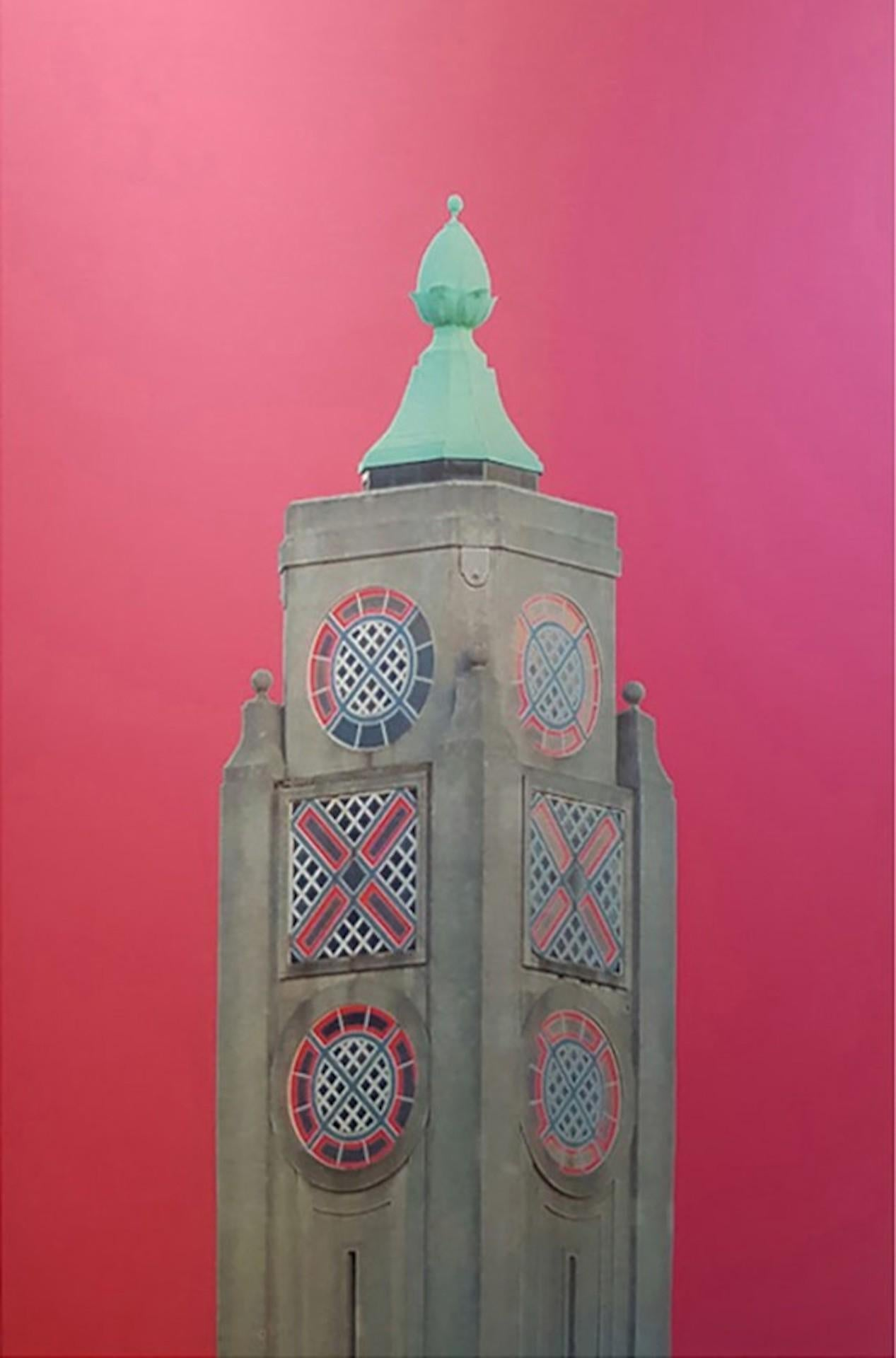 Michael Wallner, Oxo Tower (pink), Contemporary Architecture Artwork