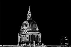 Michael Wallner, St Paul's (black), Architectural Art, Affordable Art