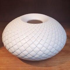 Pinecone Vessel - contemporary modern abstract geometric ceramic vase vessel