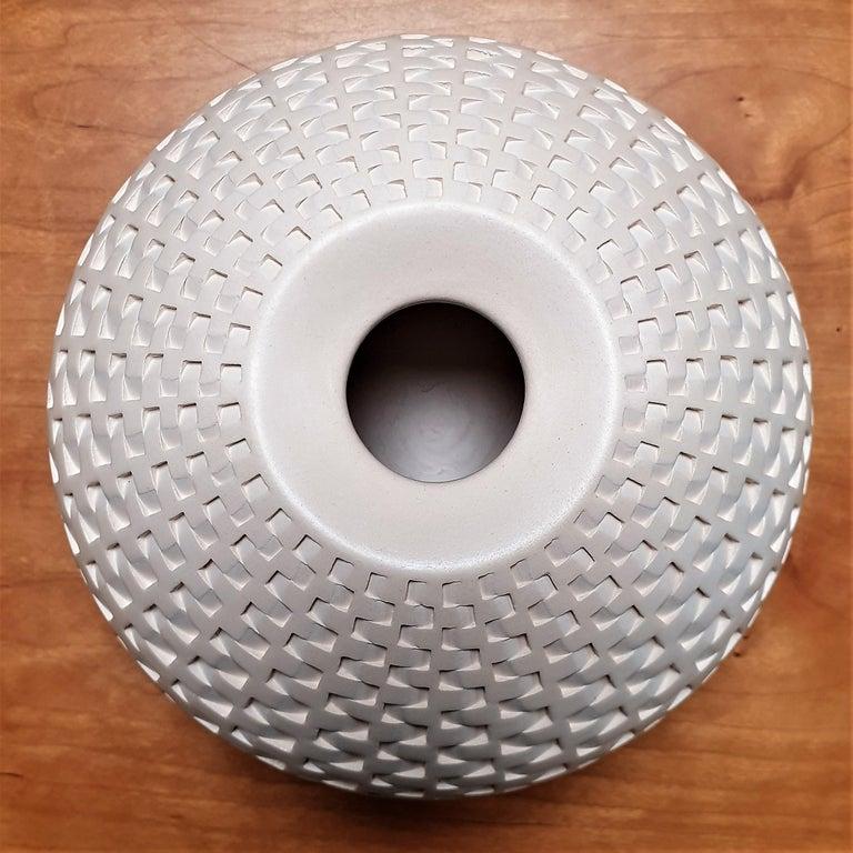 Rattan Vessel - contemporary modern abstract geometric ceramic vase vessel 1