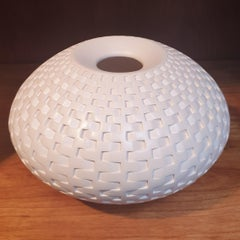Rattan Vessel - contemporary modern abstract geometric ceramic vase vessel