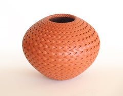 Red Zig Zag (handmade, red, pottery, patterned)