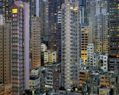 Night #20 – Michael Wolf, City, Rooftops, Skyscraper, Architecture, Night, Art