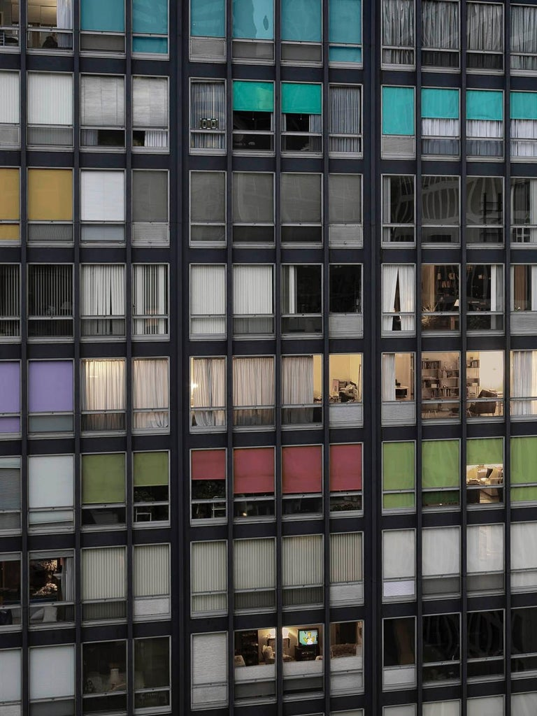 Transparent City #87B – Michael Wolf, Chicago, USA, City, Rooftops, Skyscraper - Contemporary Photograph by Michael Wolf