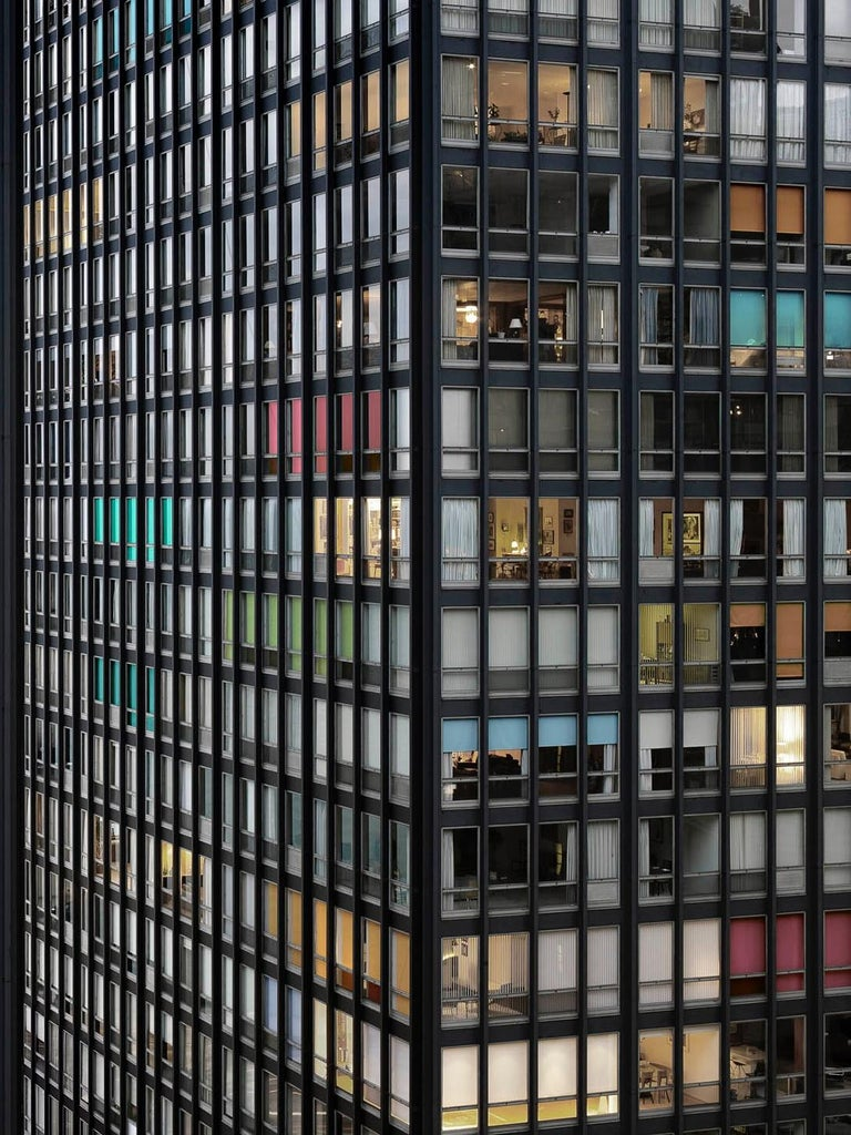 Transparent City #87B – Michael Wolf, Chicago, USA, City, Rooftops, Skyscraper - Black Color Photograph by Michael Wolf