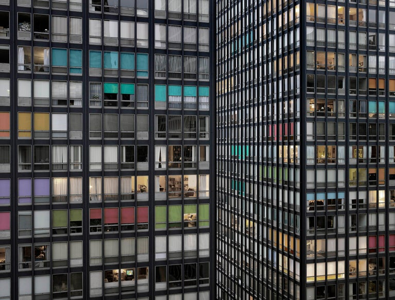 Transparent City #87B – Michael Wolf, Chicago, USA, City, Rooftops, Skyscraper - Photograph by Michael Wolf