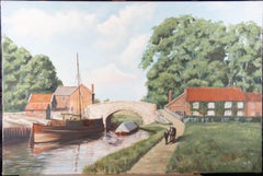 Michael Wood - Contemporary Oil, Canal Path Stroll