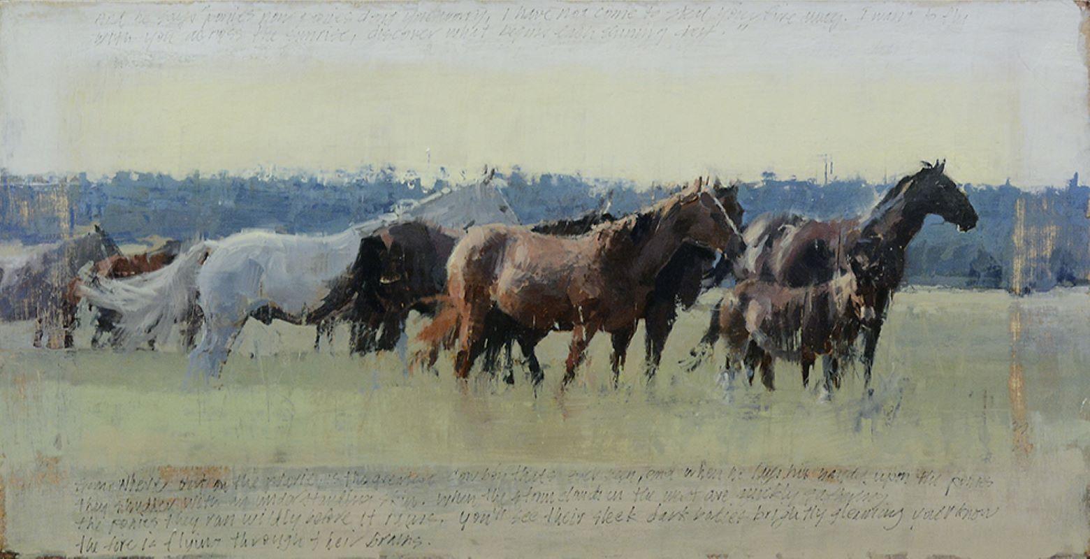 """""""Ponies"""", Oil Painting"""