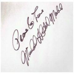 Michael X Vintage Autograph on Paper, 1960s-1970s