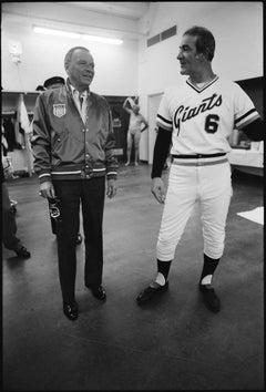 Frank Sinatra with Giants' Manager Joe Altobelli