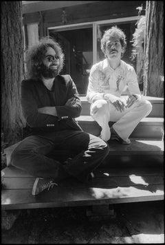 Jerry Garcia and Carlos Santana
