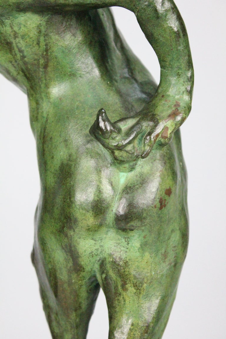 Michail Jacob Katz 1889-1964 Russian/Swedish Bronze Sculpture of Faun, 1928 For Sale 6