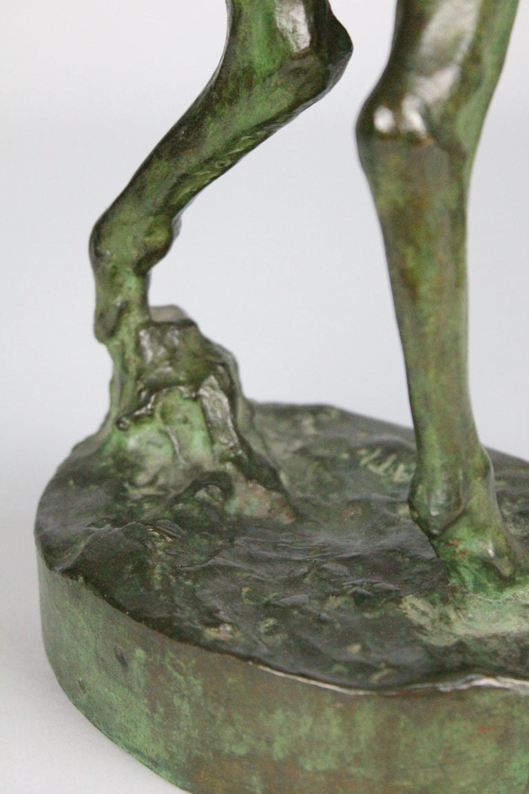 Michail Jacob Katz 1889-1964 Russian/Swedish Bronze Sculpture of Faun, 1928 For Sale 7