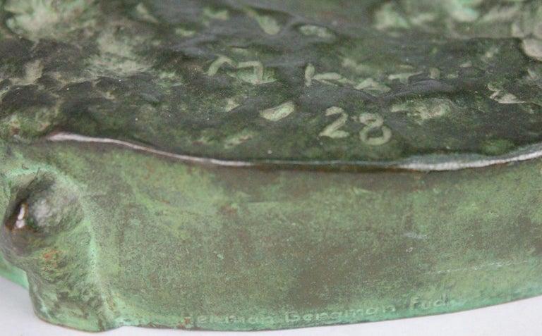 Michail Jacob Katz 1889-1964 Russian/Swedish Bronze Sculpture of Faun, 1928 For Sale 11