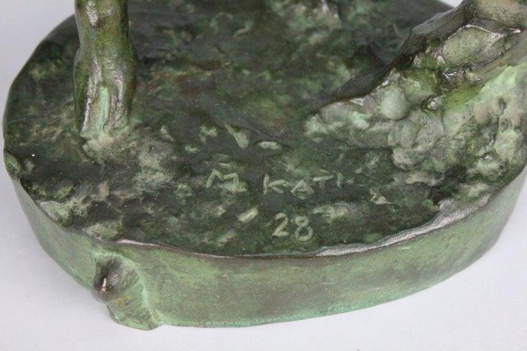 Michail Jacob Katz 1889-1964 Russian/Swedish Bronze Sculpture of Faun, 1928 For Sale 12