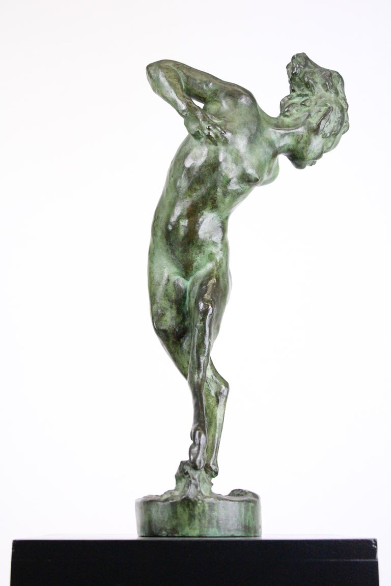 Michail Jacob Katz 1889-1964 Russian/Swedish Bronze Sculpture of Faun, 1928 For Sale 1