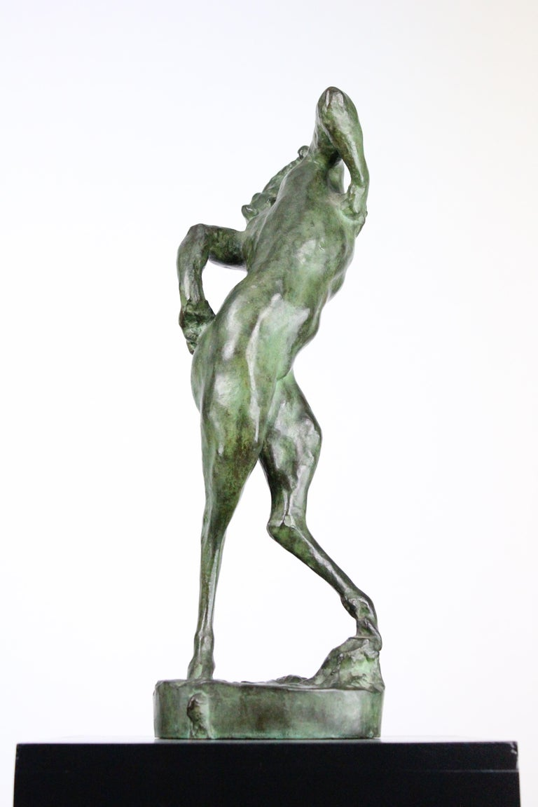 Michail Jacob Katz 1889-1964 Russian/Swedish Bronze Sculpture of Faun, 1928 For Sale 2