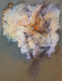 Nude - 21st Century, Contemporary Figurative Oil Painting, Abstraction