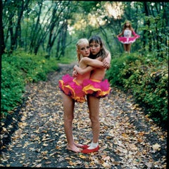 Xenia, Janna and Alona in the woods