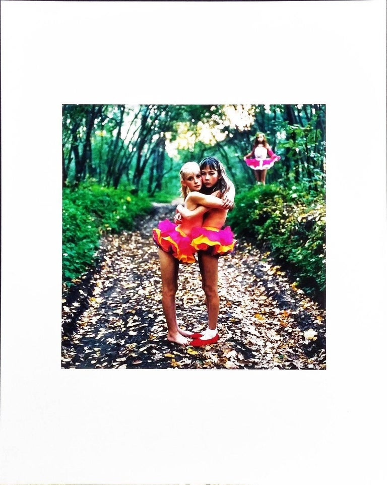 Michal Chelbin Color Photograph - XENIA, JANNA & ALONA IN THE WOODS