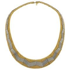 Micheal Bondaza 18 Karat Yellow Gold and Platinum Necklace