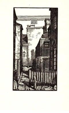 1938 Micheal Gallagher 'Bladen's Court (Philadelphia)' Modernism Black & White