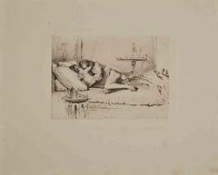 Erotic Scene - Original Héliogravure by Micheal Von Zichy - 1911