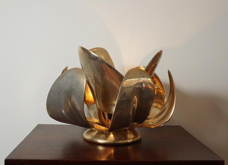 Michel Armand Rare Lit Table Sculpture For Sale 4